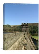 The western tower of derwent dam, Canvas Print