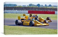 Lotus Type 101 and 102T F1 Cars, Canvas Print