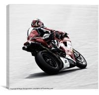 Ducati Cornering, Canvas Print