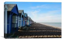 Beach Huts at Herne Bay, Canvas Print