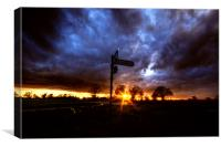 Crossroads Sunset, Canvas Print
