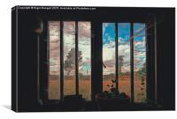 The Potting Shed Window , Canvas Print