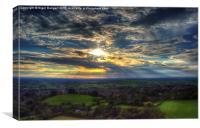 Glastonbury Tor Sunset, Canvas Print