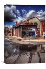 Bristol Docks Cafe and Bike Shop, Canvas Print