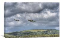 Battle of Britain Flypast , Canvas Print