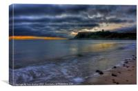 Scarborough Castle at first light, Canvas Print