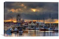 Dawn Harbour, Canvas Print