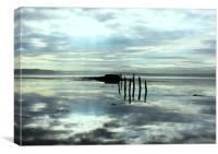 Reflection at Culross, Canvas Print