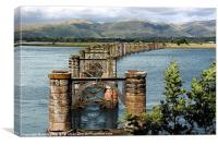 Alloa Swing Bridge at Throsk, Canvas Print