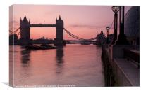 Tower Bridge Sunrise, Canvas Print