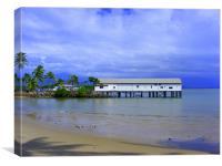 Beach at Port Douglas, N. Queensland, Canvas Print