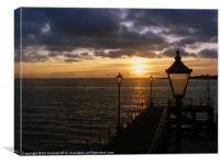 Sunset at Southsea, Canvas Print