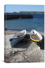 Cornish Rowing Gigs Rose & Taran, Canvas Print