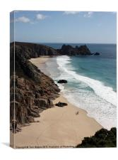 Porthcurno Bay & Logan Rock, Cornwall, Canvas Print