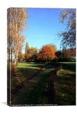 Autumn tracks, Canvas Print