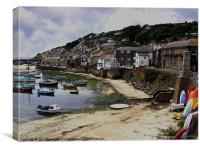 Mousehole Harbour, Cornwall, Canvas Print