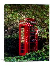 Penberth phone box, Canvas Print