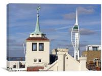 Tower House & Spinnaker Tower, Canvas Print