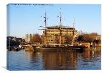 The Kaskelot in Bristol Dock, Canvas Print