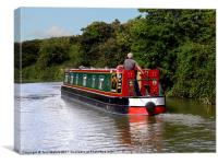 Canal boat, Canvas Print
