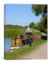 Canal at Caen Hill Locks, Canvas Print