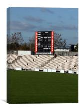 The Ageas Bowl Cricket Score Board, Canvas Print