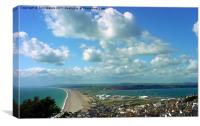 Blue Skies Over Chesil Bank, Canvas Print