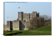 Dover Castle in Winter, Canvas Print