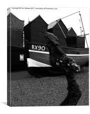 Hastings in Black & White, Canvas Print