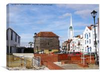 Old Portsmouth Flood Gates, Canvas Print