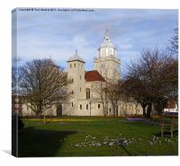 Portsmouth Cathedral in Springtime, Canvas Print