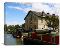 Barge Inn Kennet & Avon, Canvas Print