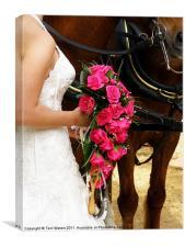The wedding Bouquet, Canvas Print