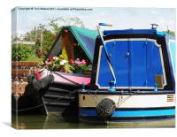 Pretty Narrow Boats, Canvas Print
