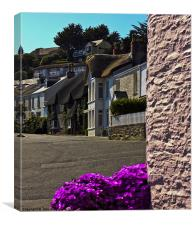 St Mawes Cottages on the Roseland, Canvas Print