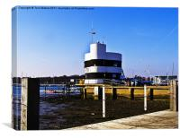 Warsash Harbour Master's Building, Canvas Print