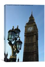 The clock tower of Big Ben, London, Canvas Print