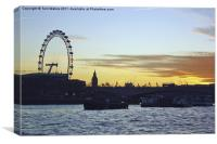 Sunset in London, Canvas Print