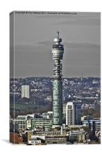 The Post Office Tower London, Canvas Print