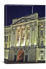 Buckingham Palace at Christmas, Canvas Print