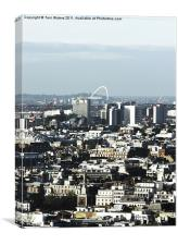 Wembley Arch on London Skyline, Canvas Print