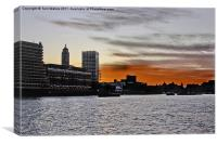 OXO Sunset, Canvas Print