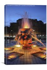 Trafalgar Square illuminated at Dusk, Canvas Print