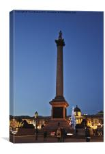 Nelson's Column: Christmas at Dusk, Canvas Print