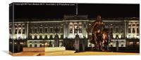 Statues View of Buckingham Palace, Canvas Print