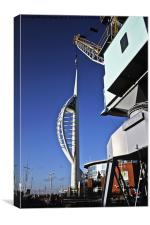 Spinnaker Tower gets a Lift, Canvas Print