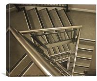 Stairs at the Spinnaker Tower, Canvas Print
