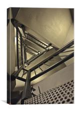 Stairing up the Spinnaker Tower, Canvas Print