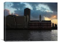 The OXO Tower London, Canvas Print