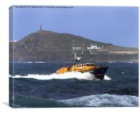 Tyne class lifeboat Cape Cornwall, Canvas Print